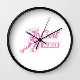 I'm The Girl Your Coach Warned You About - Lacrosse Design Wall Clock