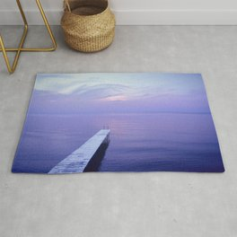 Long Dock Coastal Potography Rug