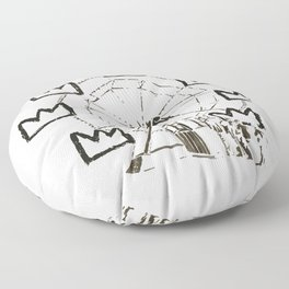 Ferris Wheel, Banksy Pays Tribute To Jean-Michel Basquiat, Artwork, Tshirts, Posters, Bags, Prints, Floor Pillow