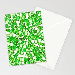 Circular Mosaic Green Stationery Cards