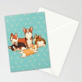 Corgis 2 Stationery Cards