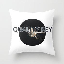 Quality Key: Vinyl Time Throw Pillow