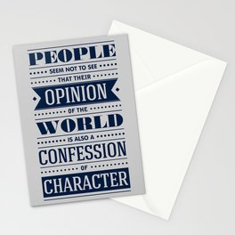 Lab No. 4 People Seem Not to Ralph Waldo Emerson Inspirational Quote Stationery Cards