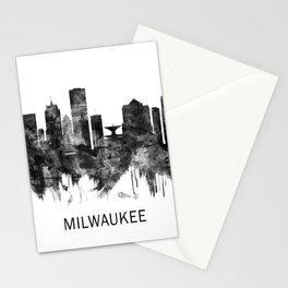 Milwaukee Wisconsin skyline BW Stationery Cards