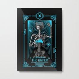 The Gamer X Tarot Card Metal Print