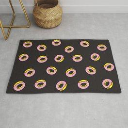 Donuts on Black Rug