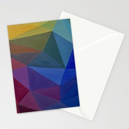 Rainbow Pentagons Stationery Cards