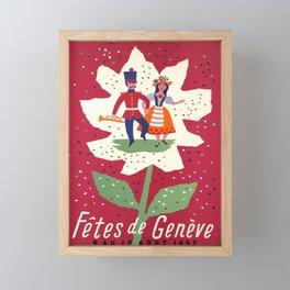 affiche fetes de geneve 1957 fete Framed Mini Art Print