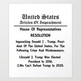 Articles of Impeachment Art Print