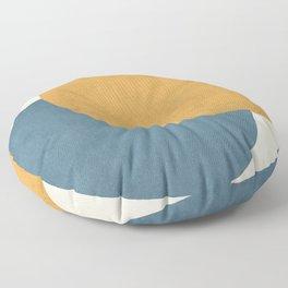 Halfmoon Colorblock - Gold Blue Floor Pillow