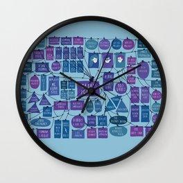 Harry P word map Wall Clock