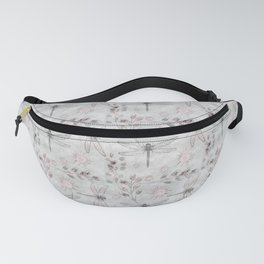 Dragonflies on grey. Fanny Pack