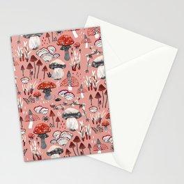 Fungi Farmer Land (Mushroom Land) - RED Stationery Cards