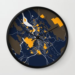 Launceston - Australia Bluefresh City Map Wall Clock