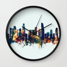 Los Angeles California Skyline Wall Clock