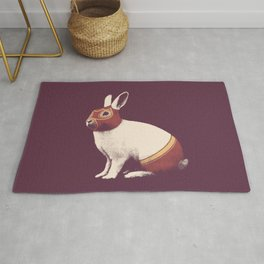Lapin Catcheur (Rabbit Wrestler) Rug