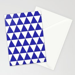 Triangles (Navy & White Pattern) Stationery Cards