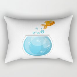 Glodfish On The Go To Freedom Rectangular Pillow