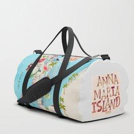 Anna Maria Island Map Duffle Bag