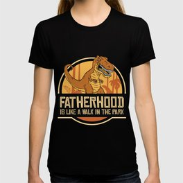 Fatherhood t-rex T-shirt