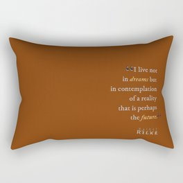 In Contemplation of Reality Rectangular Pillow