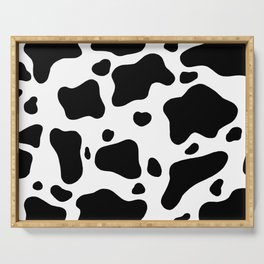 Cow Hide Serving Tray