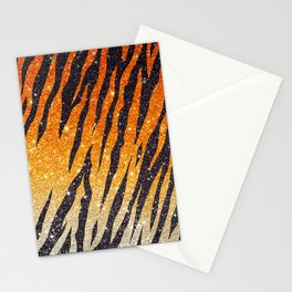 Tiger Shout Glitter Stripe Stationery Cards