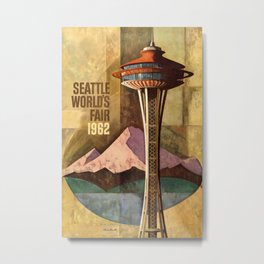 Seattle Worlds Fair 1962 Vintage Travel Poster Metal Print