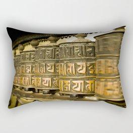 Tibetan Prayer Wheel Nepal Temple Rectangular Pillow