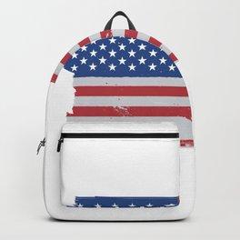 American flag worn Backpack