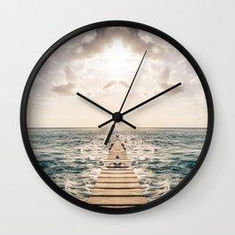 Kaleidoscape: Caye Caulker Wall Clock