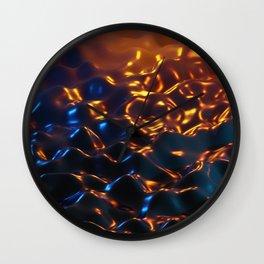 Flow liquid 3d art Wall Clock