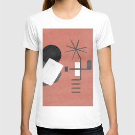 "A simple ""Miró"" on a red background - minimal composition T-shirt"