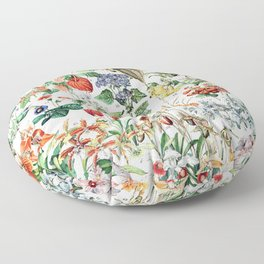 Adolphe Millot - Fleurs D - French vintage poster Floor Pillow
