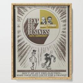 Vintage Poster - Beat Big Business, Vote Communist (1975) Serving Tray