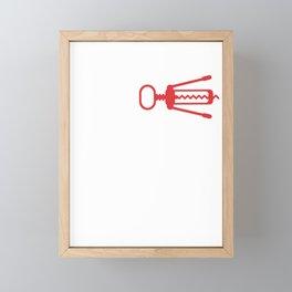 Witty Mom Novelty Moms Fidget Spinner Corkscrew Best Mothers Day Gift Framed Mini Art Print