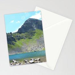 Mountain Stream Alpine landscape Stationery Cards