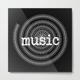 Sol keys and music - inverted Metal Print