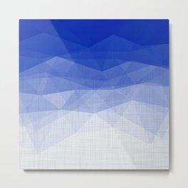 Imperial Lapis Lazuli - Triangles Minimalism Geometry Metal Print