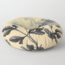 roeses on coral background Floor Pillow