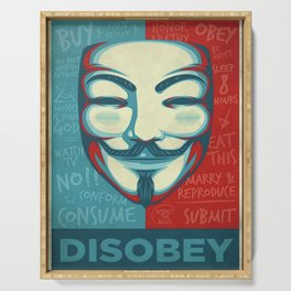 Disobey Serving Tray