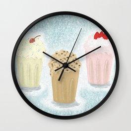 Trio Neopolitan Milkshakes Wall Clock