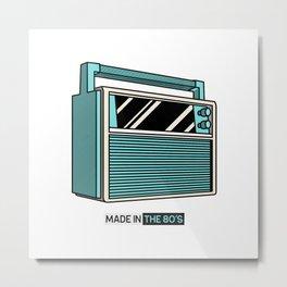 Good old times boombox retro throwback 80s born Metal Print