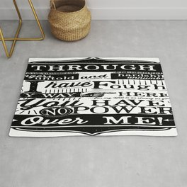 Labyrinth Quote You Have No Power Over Me Rug