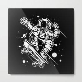 skate-space-t-shirt Metal Print
