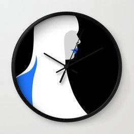 Joni Mitchell portrait (blue) Wall Clock