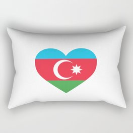 Azerbaijan  love flag heart designs  Rectangular Pillow