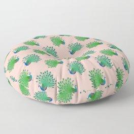 Prancing Peacocks Floor Pillow