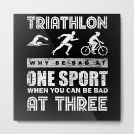 Triathlon Sports Metal Print