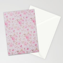 Modern Vintage Blush Pink  Romantic Floral Pattern Stationery Cards